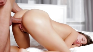 Bent over vulgar bitch is giving the precious deepthroat