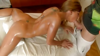 Golden haired sweetheart is dirty drilled by a dude