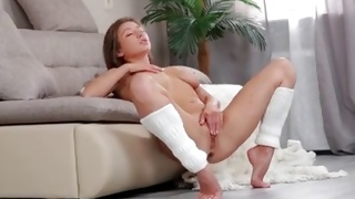 Observe the raunchy hot solo performance of the perfect slut