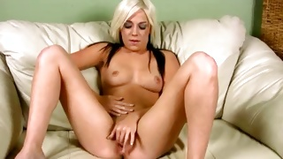 The small lusty cunt hole of doxy stuffed with a rod