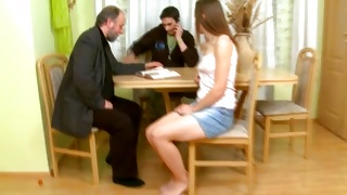 They are deciding the depraved threesome fucking