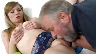 Kneeling kinky bitch is bending while fucked hard core
