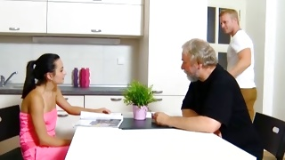 Firm tittied salacious babe is jerking off the gorgeous penis