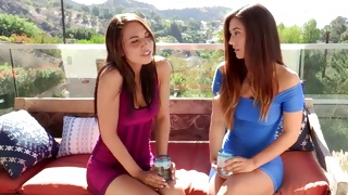 Two sweet babes sitting there and willing to fuck each other