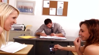 Messy young babes wish having sex with teacher