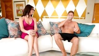 Passionately hot tasty bitch looks kinky on dirty porn