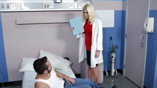 Sexy doctor is going to examine her patient