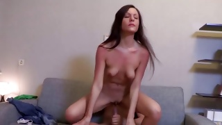 Bent over vicious beauty is groaning sluttish while poked