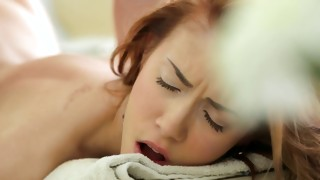 Watch on mouth-watering cute bitch is filled in upper cavity with beefy cock