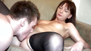 This brown-haired kinky bitch is bendable at enough length and gets her poked doggy