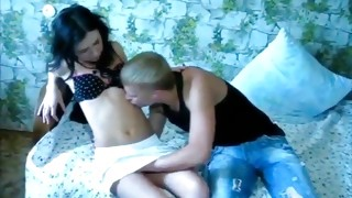 Vulgar prostitute is getting her snatch sucked off by the sickening dude