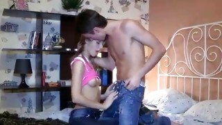 Licentious young escort is getting her breadbasket soaked up by dude