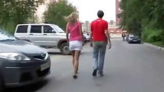 This horny infantile strumpet is going hawt while she is blowing his well-built penis