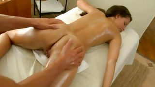 Watch on brunette fuckable babe that is massaged greatly