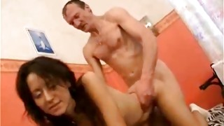 Arousing man is sliding his tongue across in and out of blossoming woman pussy eye