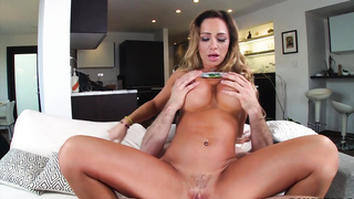 Big Tit Blonde Begs for the Creampie